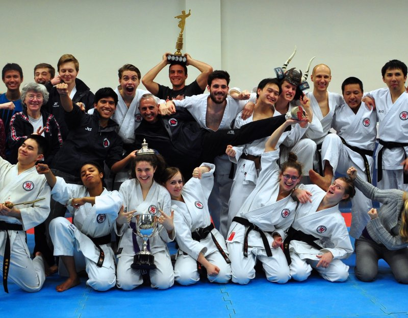 Cambridge University Karate Club show off their silverware