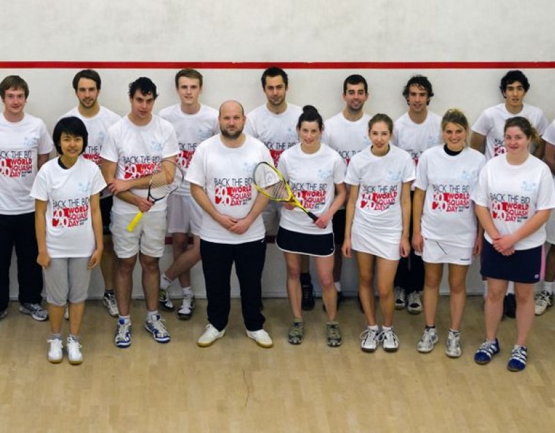 CUSRC members on World Squash Day