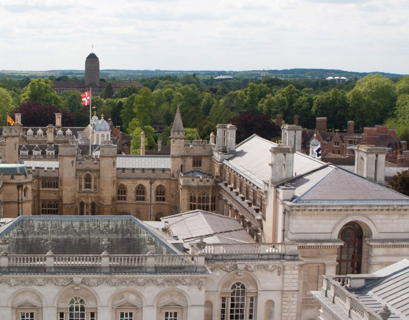 Cambridge landscape from Great St Mary's tower. Image courtesy of John Kingsnorth.
