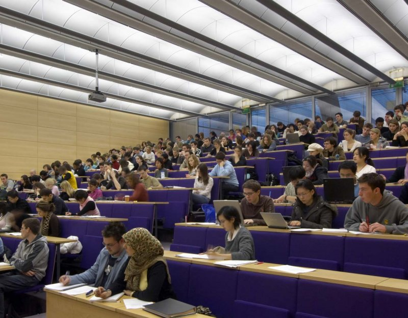 Law students in lecture theatre
