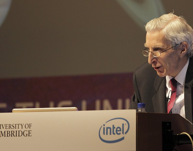 Martin Rees, co-founder of the Centre for the Study of Existential Risk, Emeritus Professor of Cosmology and Astrophysics