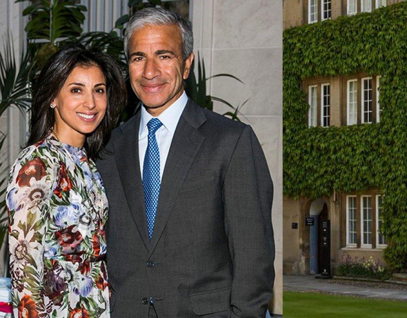 Prakash (r) and Anjali (l) Melwani; Sidney Sussex College