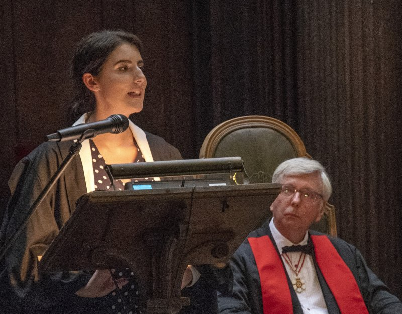 Mollie Georgiou speaking to donors at the Guild of Benefactors ceremony, 2018