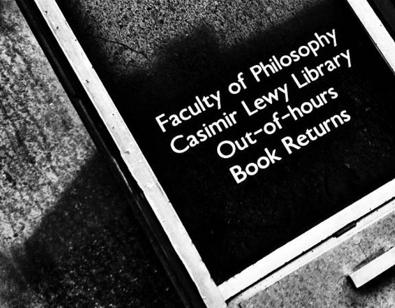 Faculty of Philosophy library book drop