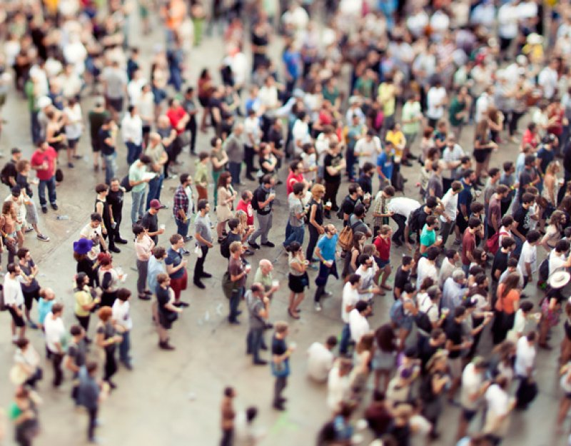 A crowd at a music festival. Image by iStock used under licence