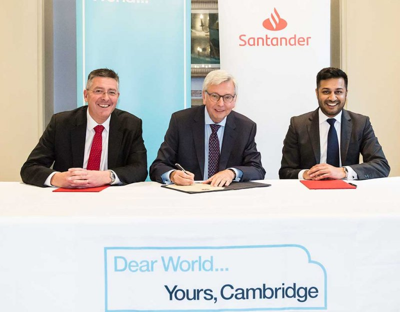 Matt Hutnell, Vice-Chancellor Stephen Toope and Manroop Khela