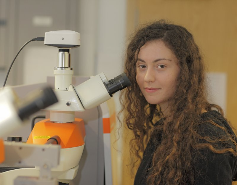 A member of the Nanomaterials and Spectroscopy group in the Department of Engineering