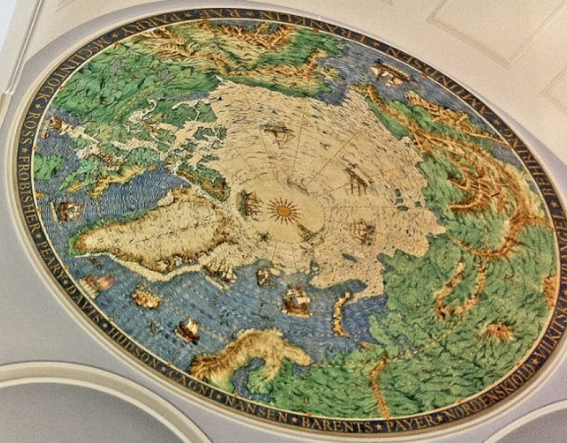Ceiling map at the Scott Polar Research Institute (SPRI)
