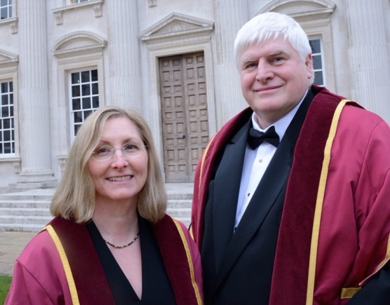 The Dawsons in front of the Senate House