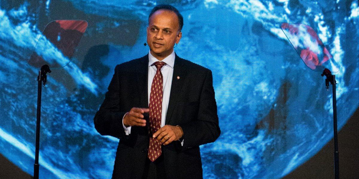 Professor Bhaskar Vira speaking in London
