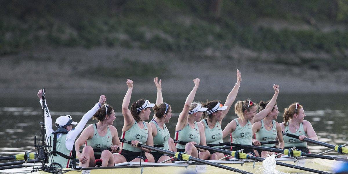 2017 winning women's Cancer Research UK Boat Race crew