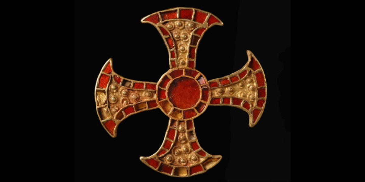 Anglo Saxon brooch after conservation