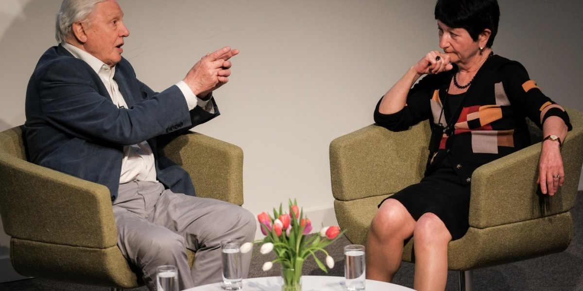 Sir David Attenborough in conversation with Dame Alison Richard (Chair, Cambridge Conservation Initiative)