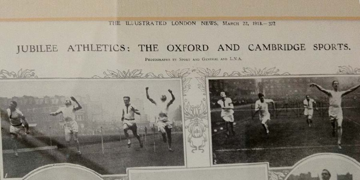 CUAC Jubilee Athletics 1913 in The Illustrated London News