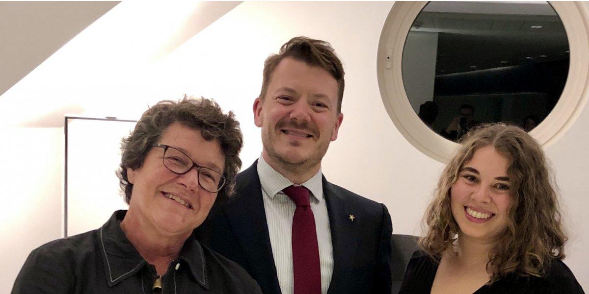 Professor Sarah Franklin, Daniel Gerring and Elisabeth Sandler