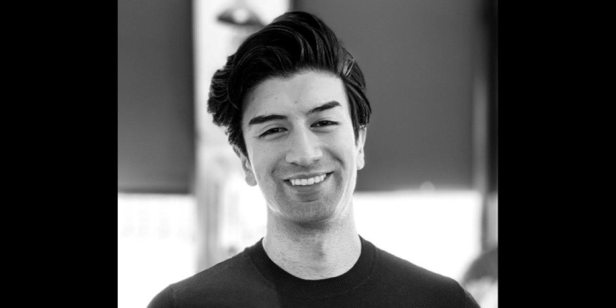 Matt Mahmoudi portrait photo in black and white