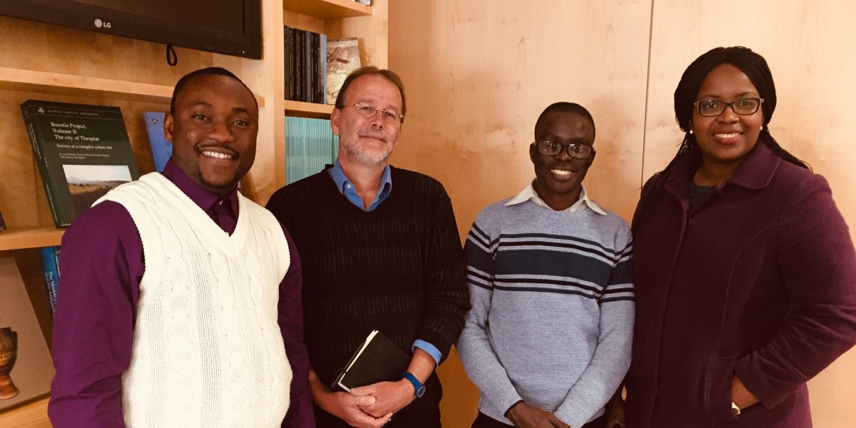 Professor Paul Lane with African colleagues