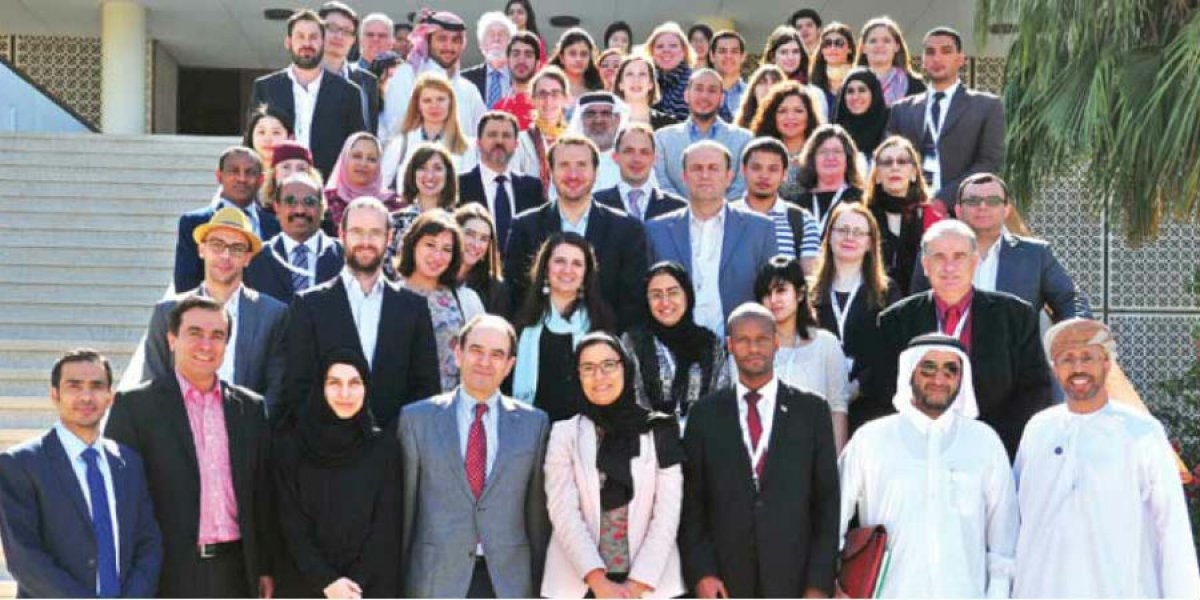 Participants at the 'Cambridge in Qatar: perspectives on Middle East Studies' conference