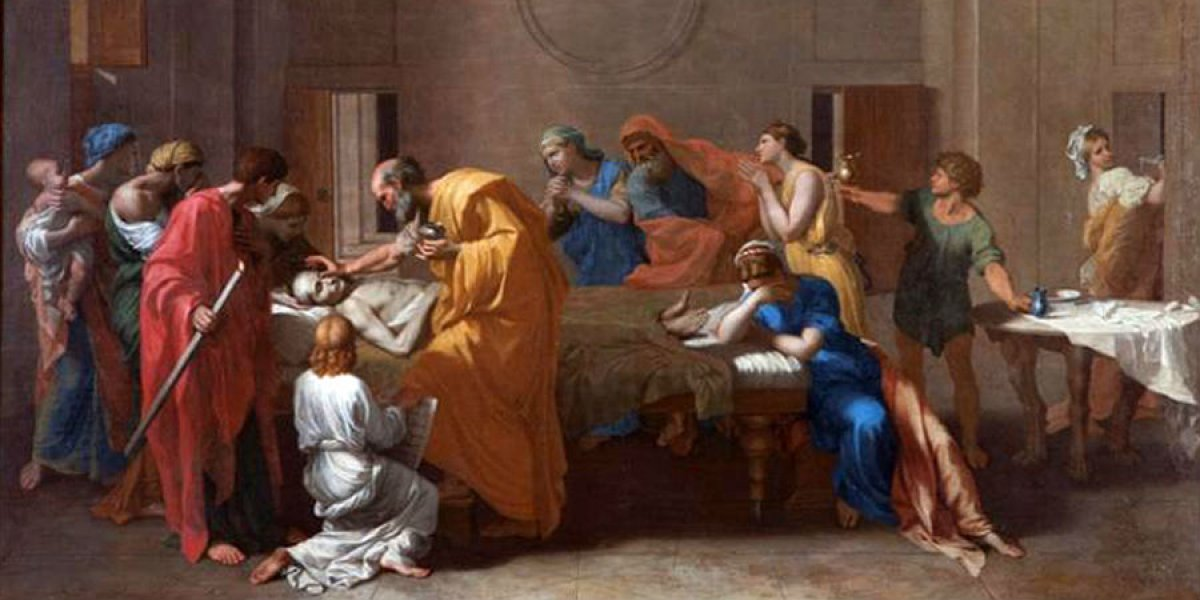 Detail from a painting by Nicolas Poussin