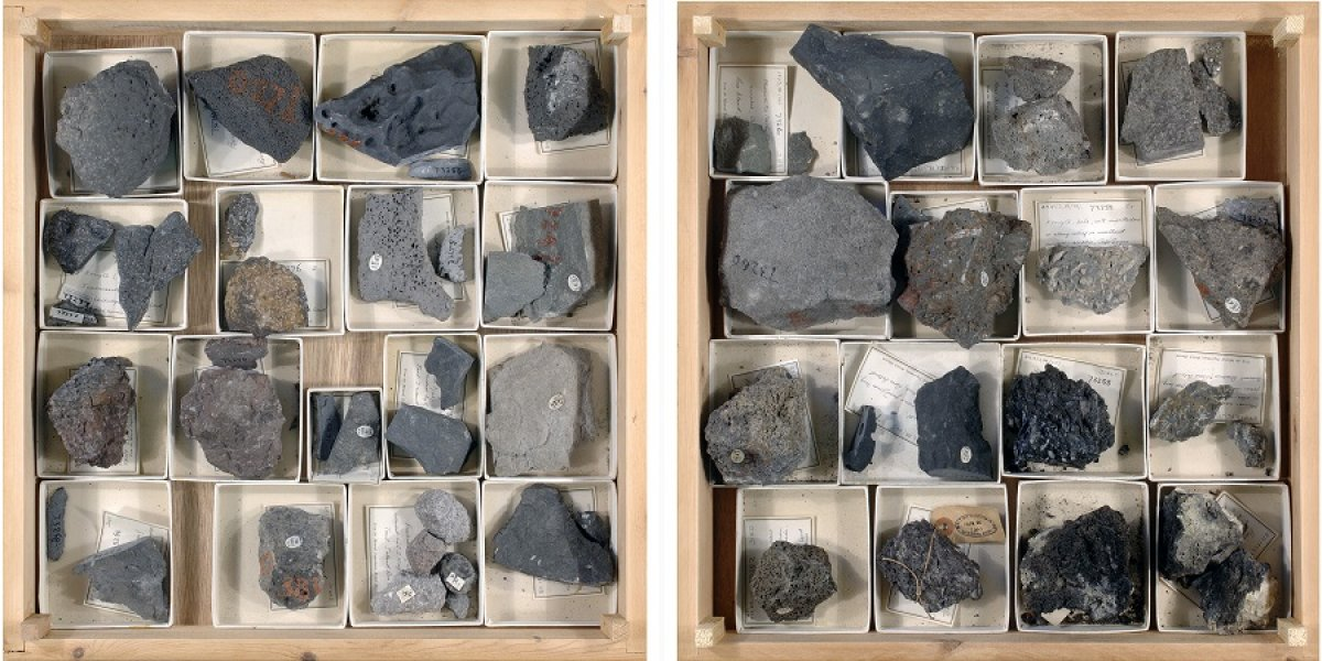 Drawers of rocks from the Terra Nova expedition, 1910–1913