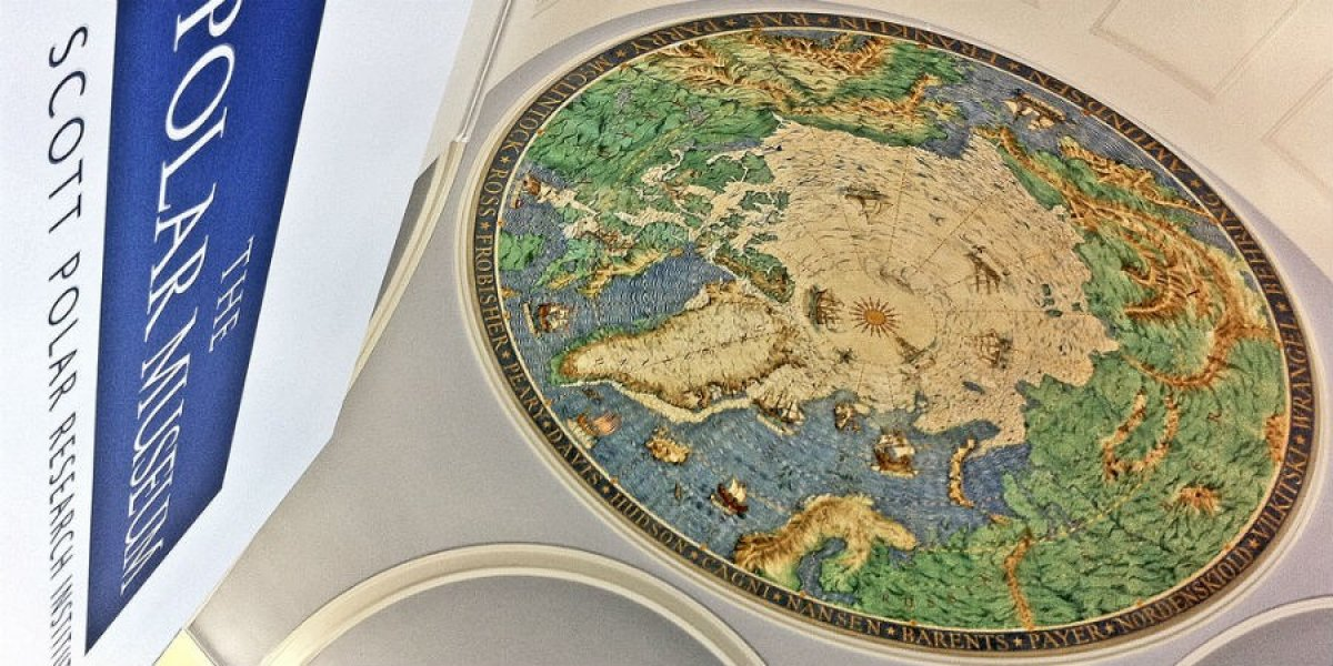 Ceiling map at the Scott Polar Research Institute (SPRI)