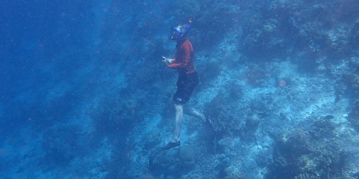 Tony Whitten in Raja Ampat, on his final voyage