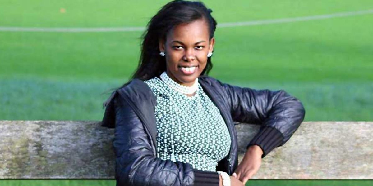 Valentina Ndolo sitting on a bench